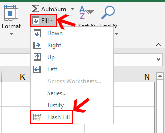 Flash Fill in Excel